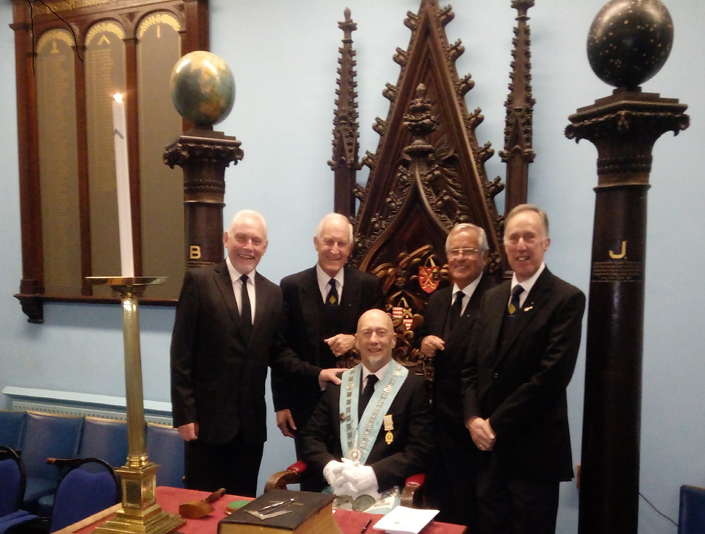W.Bro. Justin Beaumont on his Installation