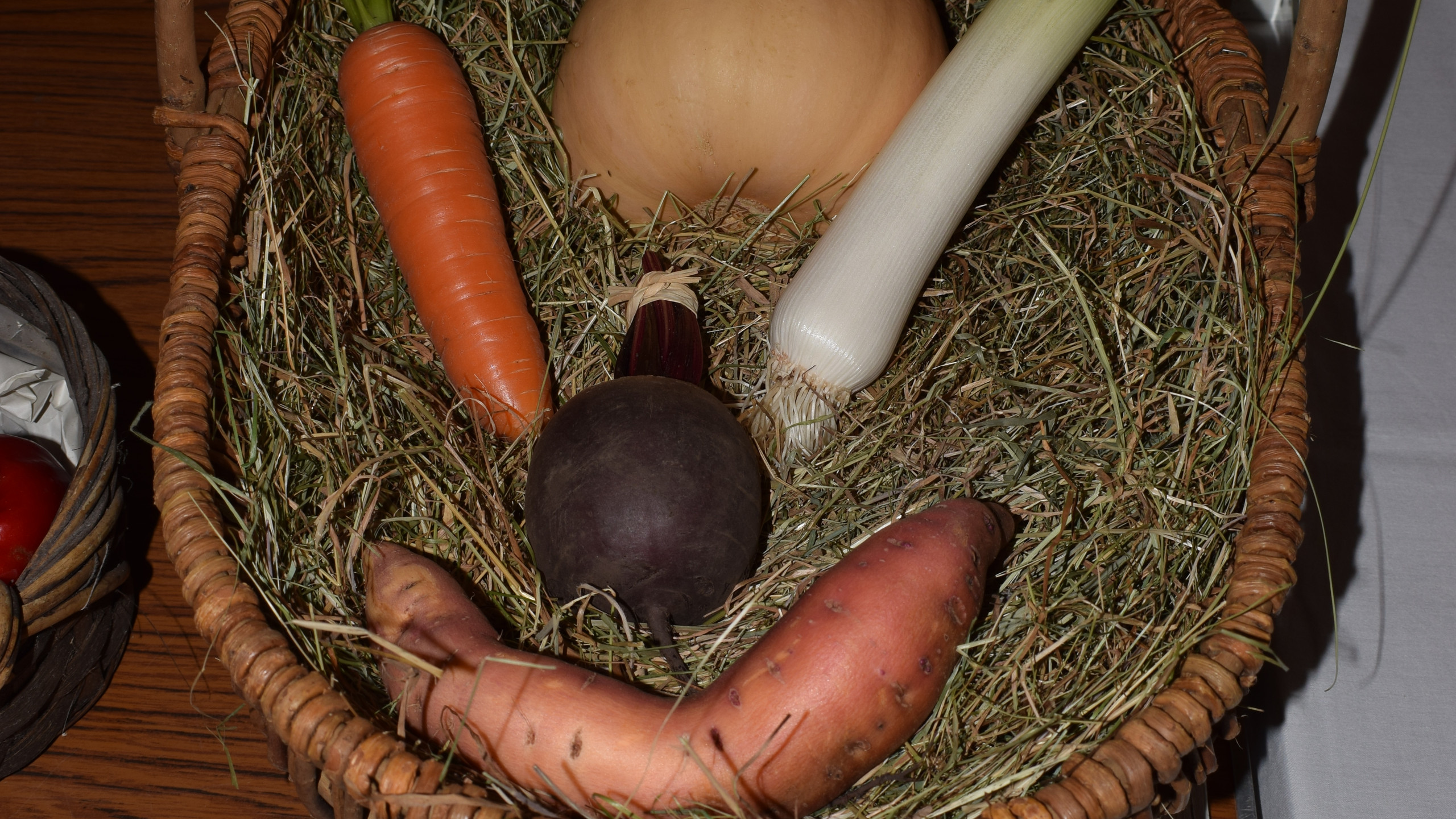 3rd prize for a trug of mixed vegetables