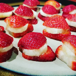 Kid friendly dessert - strawberry banana