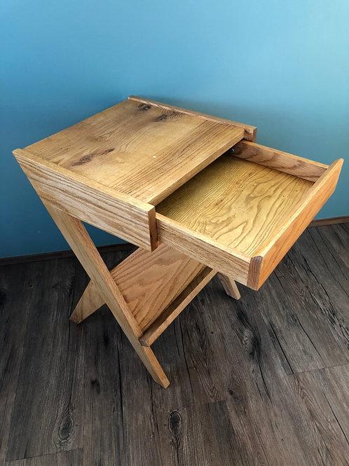 BI Oak Drawer Table