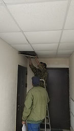 Бунина д.2  установка недостающих потоло