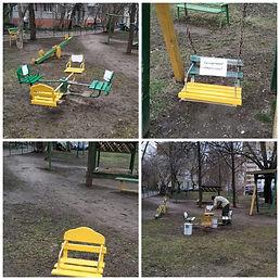 Покраска детской площадки Декабристов 82