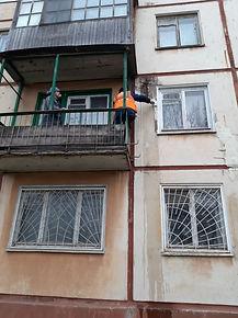 Кирова 26 к1, ремонт плиты фасада здания