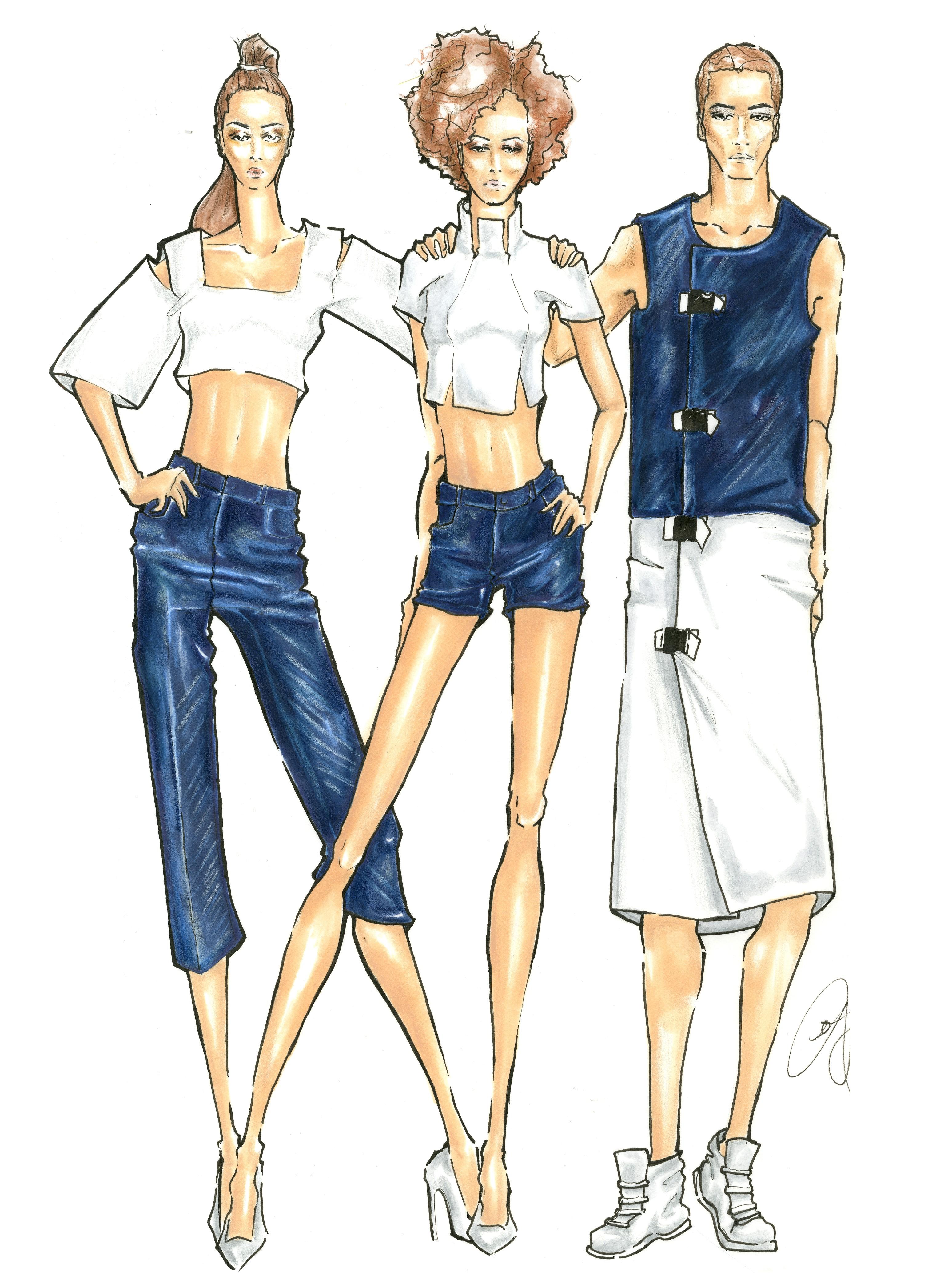Denim Trio