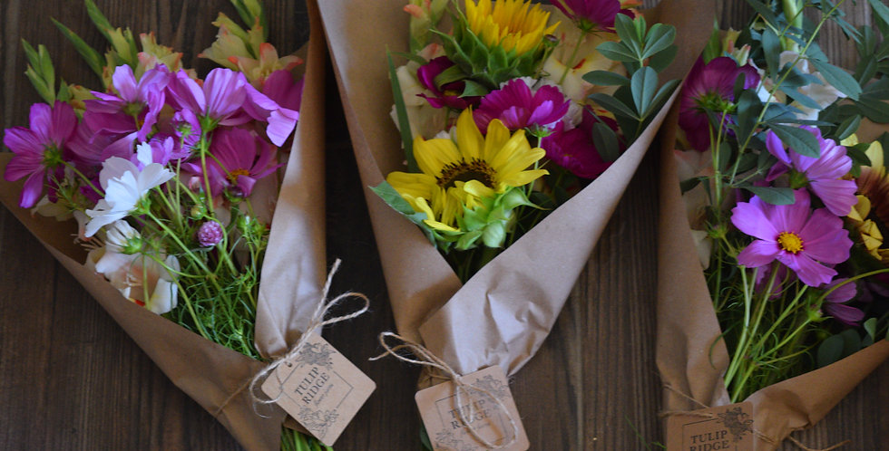 Kraft sleeve bouquet