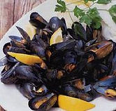 Appetizers image of mussels on a plate