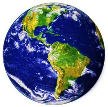 Image of the big blue marble we call planet Earth