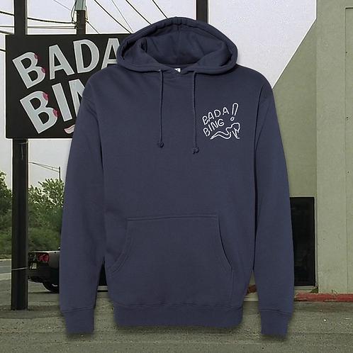 BadaBing Neon Hoodie Slate Blue