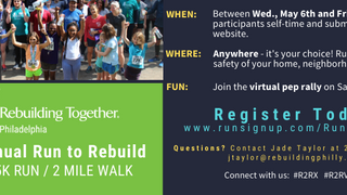 RUN TO REBUILD GOES VIRTUAL!