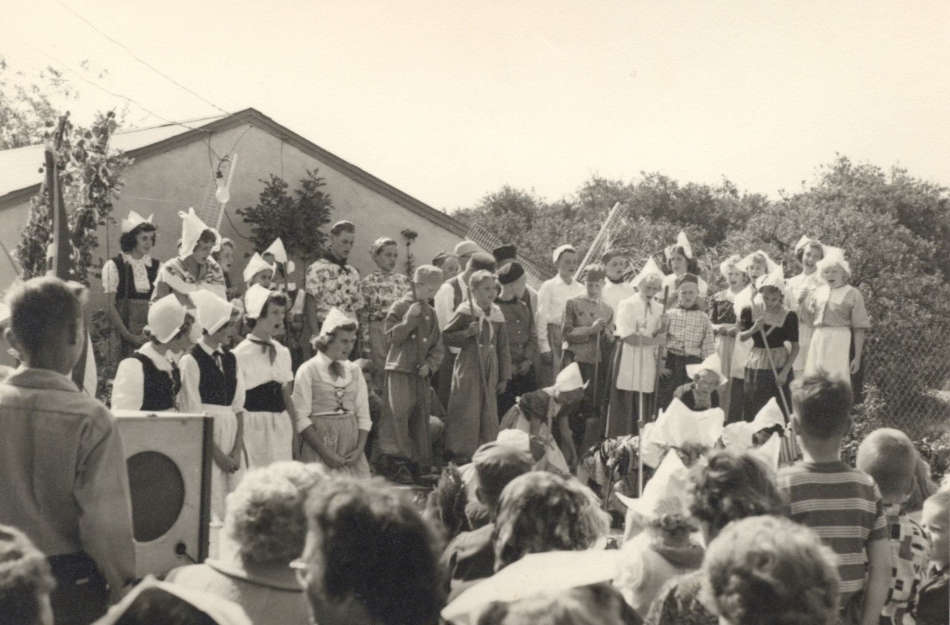 Choir from one of the first Holland Fest