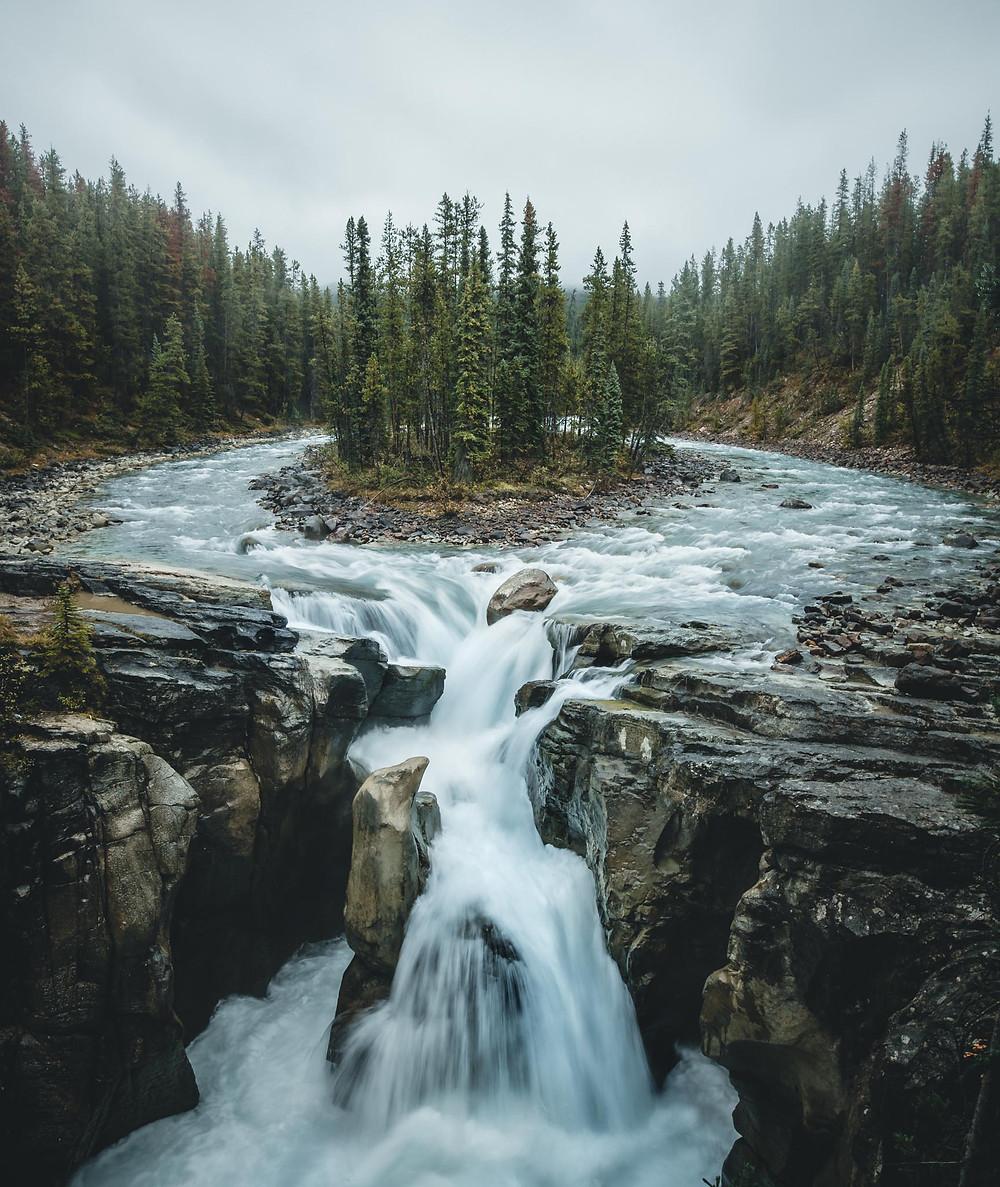 Sunwapta Falls, Abenteuer, Blog, Instagram, Canada, Kanada, Route, Photography, Fotografie, Reisen, Jasper