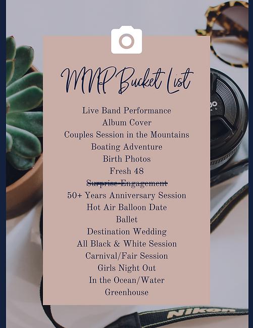MNP Bucket List