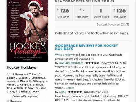 Hockey Holidays is a USA TODAY Bestseller!