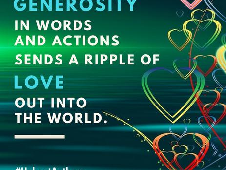 Generosity - An Upbeat Authors post