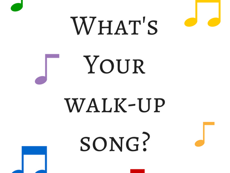 What's Your Walk-Up Song? A Romance Writers Weekly Post