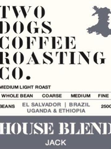 Two Dogs House Blend Coffee (Light/Medium)