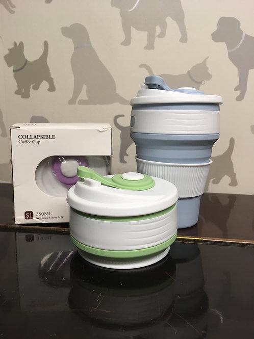 Collapsable reusable coffee cup