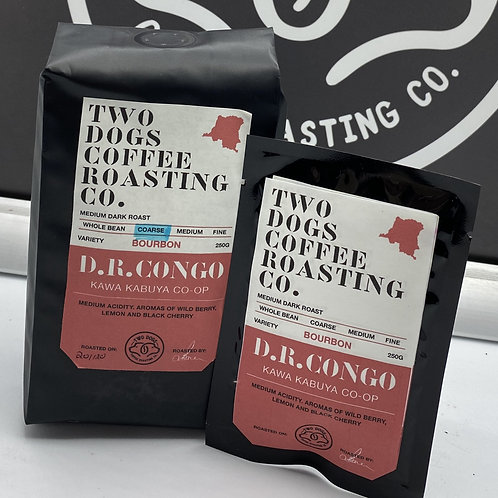 D.R. Congo single drip coffee bags.