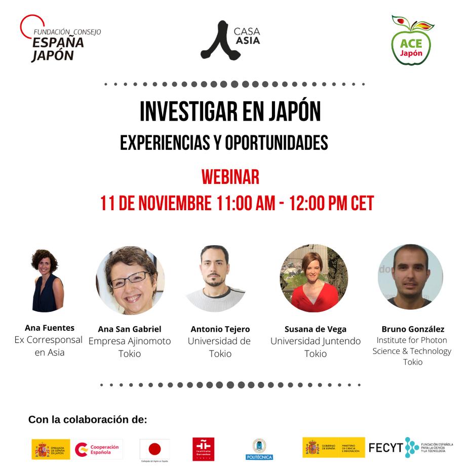 """""""Investigar en Japón: experiencias y oportunidades"""" con Fundación Consejo España-Japón y Casa Asia"""