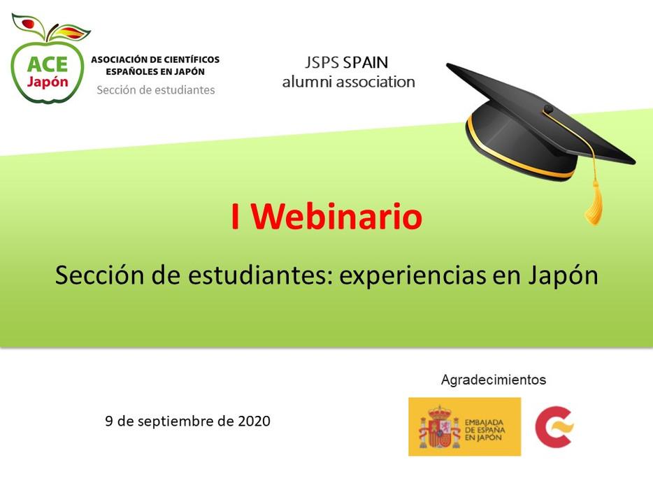 I Webinar ACE JAPÓN - SECCIÓN ESTUDIANTES