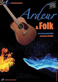 Ardeur & Folk - affiche spectacle - compagnie Blue Moon