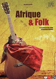 Afrique & Folk - affiche spectacle - compagnie Blue Moon