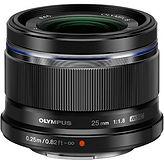 Olympus M.Zuik 25mm MFT lens hire London