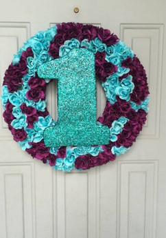 First Birthday Door Wreath