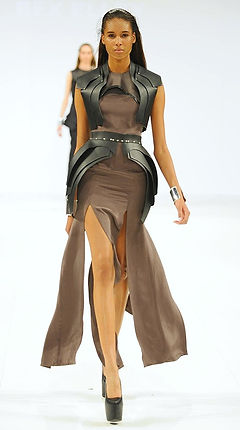rebecca, elley, atavism, leather, latex, womenswear, ravensbourne, silk, feminine, sexy, strong, mcqueen, mugler, pugh,