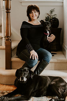 Tam Nedkov with her dogs.