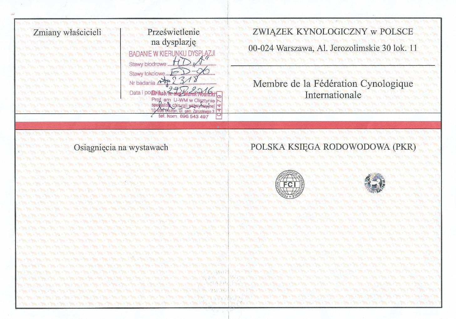 pedigree PASALA ENCHO