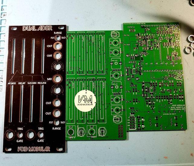 Dual ADSR PCB and Panel Set