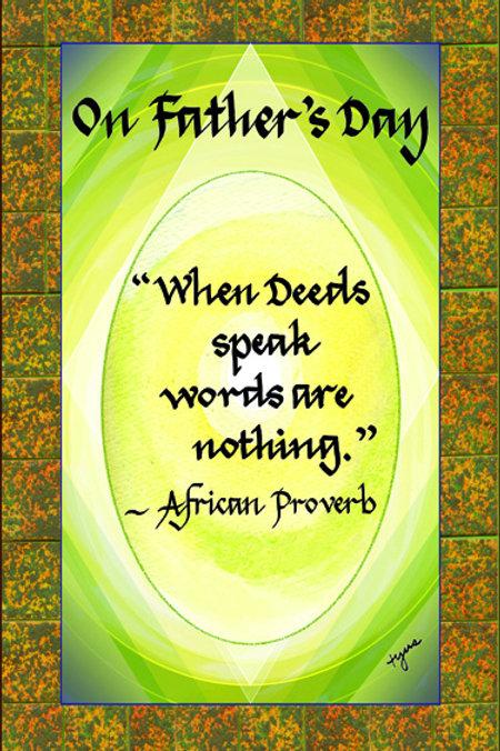 When Deeds Speak