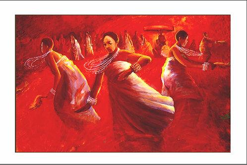 DANCE OF THE OKOMFOS I (UNFRAMED)