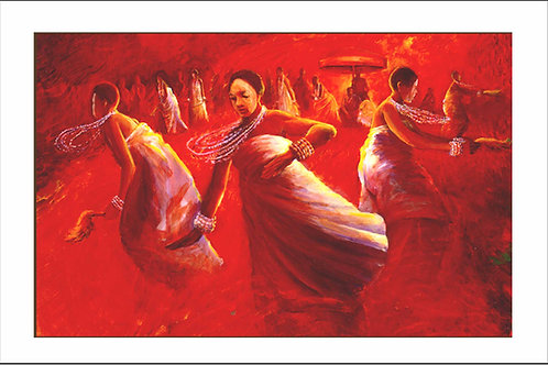 DANCE OF THE OKOMFOS I (FRAMED)