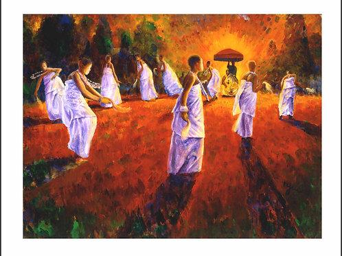 DANCE OF THE OKOMFOS II (UNFRAMED)
