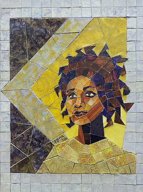 """BRIGHT EYES"" Original Mosaic Tile Painting"