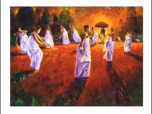DANCE OF THE OKOMFOS II (FRAMED)