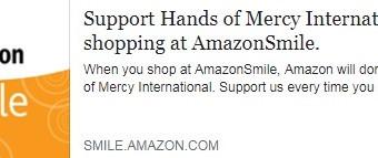 Partner with Hands of Mercy through Amazon...