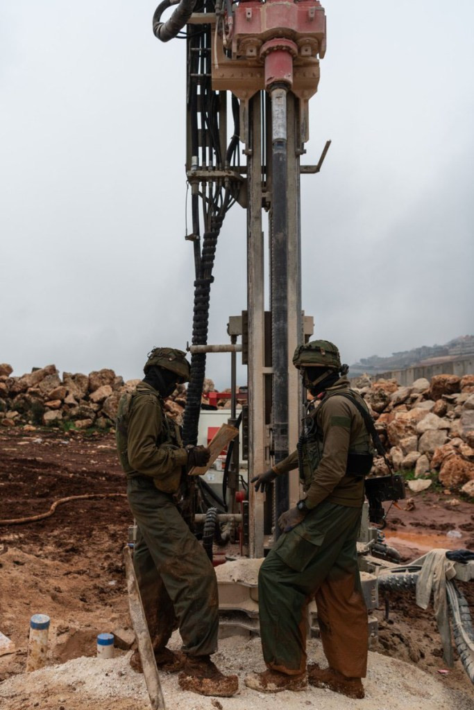 IDF soldiers work to expose Hezbollah's tunnels in Operation Northern Shield. (Pic courtesy of BFP)