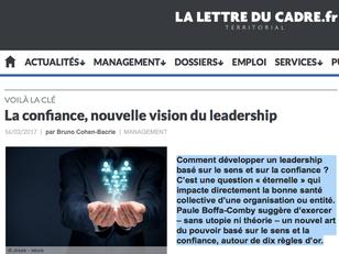 La confiance, nouvelle vision du leadership