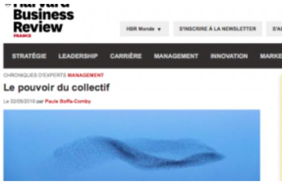 HBR France- Leader Collectif : le pouvoir de la confiance - chronique de Paule Boffa-Comby