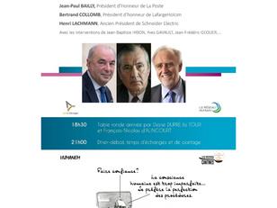 Paule Boffa-Comby aux côtés de Jean-Paul Bailly, Bertrand Collomb et Henri Lachmann le 19 janv 2017