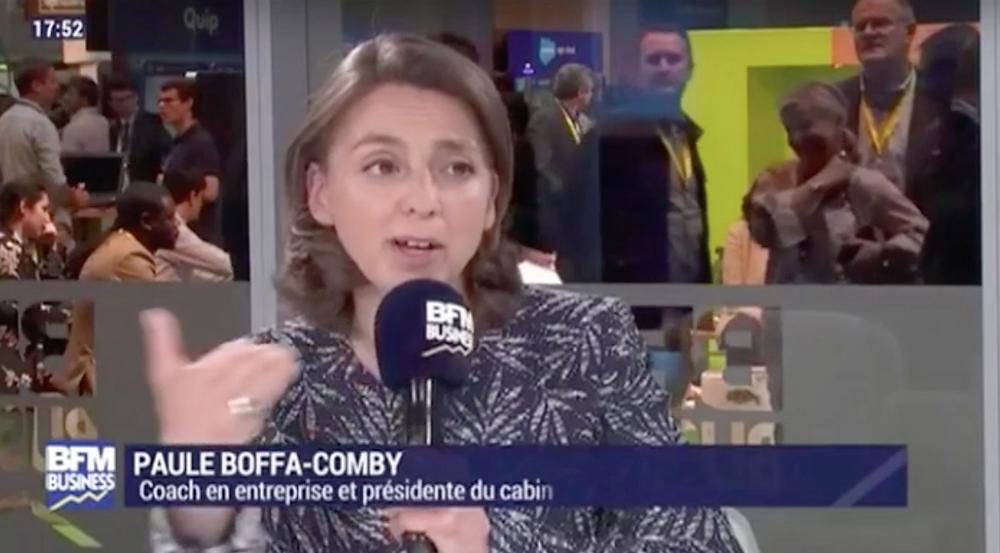 Paule Boffa Comby invitée de Frederic Simottel, BFM Business TV