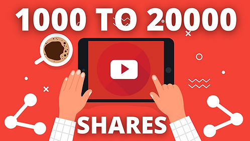 YouTube Video Shares Communication Technique   1K to 20K Video Shares