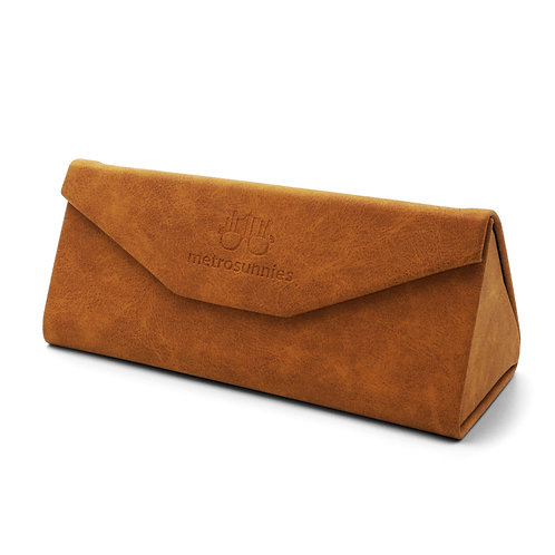 MetroSunnies Caddy Brown Foldable Eyewear Case