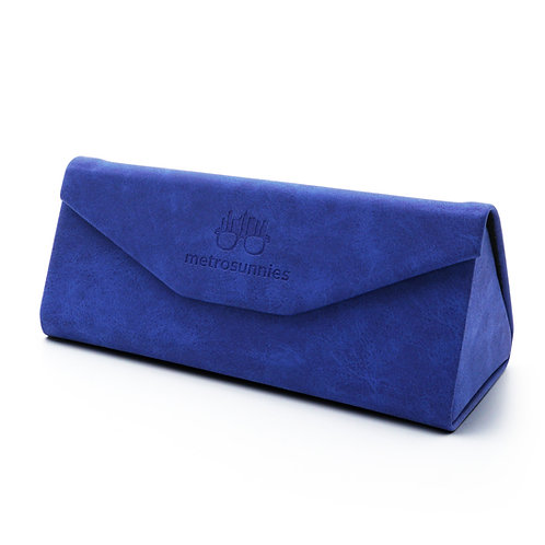 MetroSunnies Caddy Blue Foldable Eyewear Case