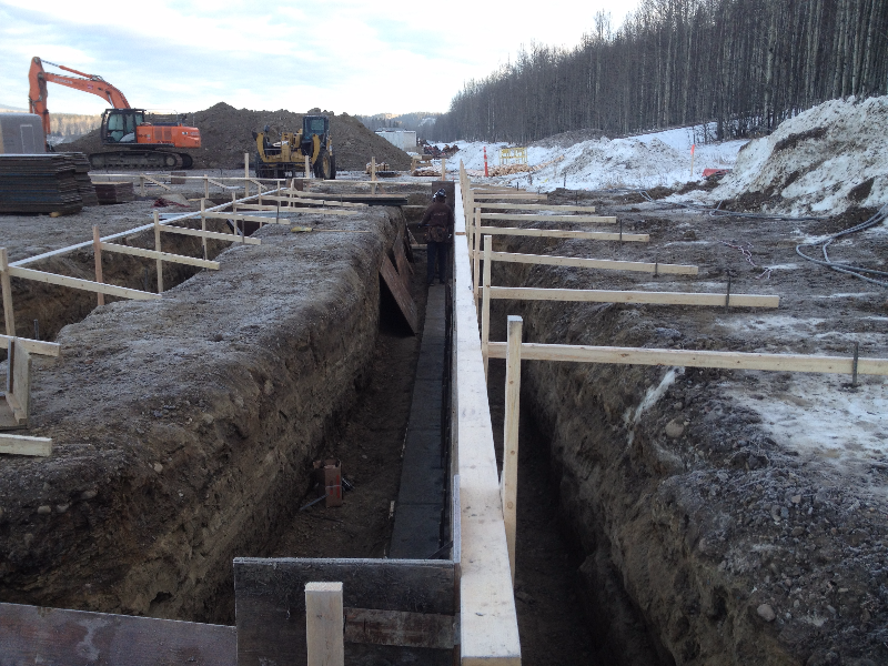 Commercial footings.