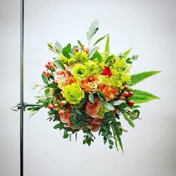 Nuotakos puokštė - koralinės rožės