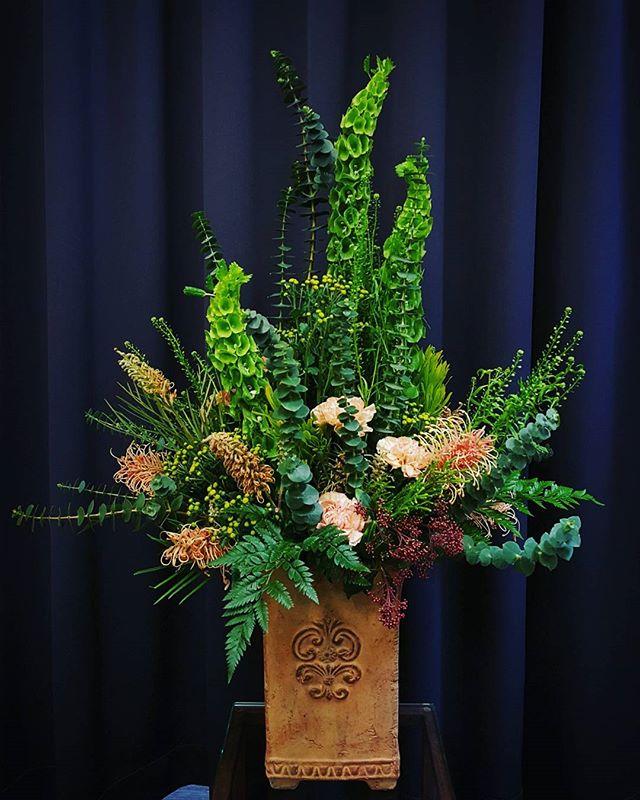 Žalia kompozicija vazone